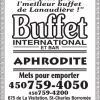 Buffet International et Bar Aphrodite